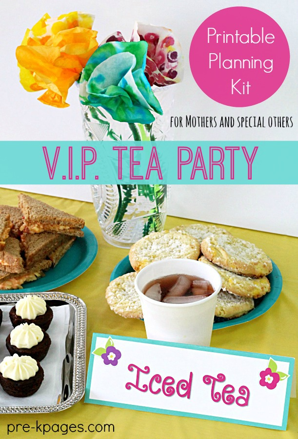 Mother's Day Tea Party Planning Kit for Teachers of Preschool and Kindergarten
