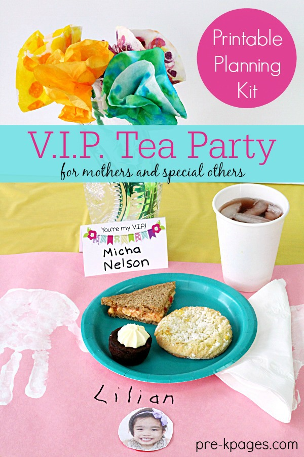Mother's Day Tea Party Printable Planning Kit for Teachers of Preschool and Kindergarten