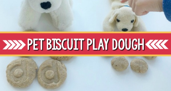 Dog Play Dough Biscuit Activity