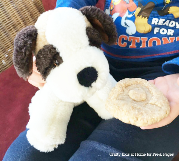 Pet Biscuit Play dough activity