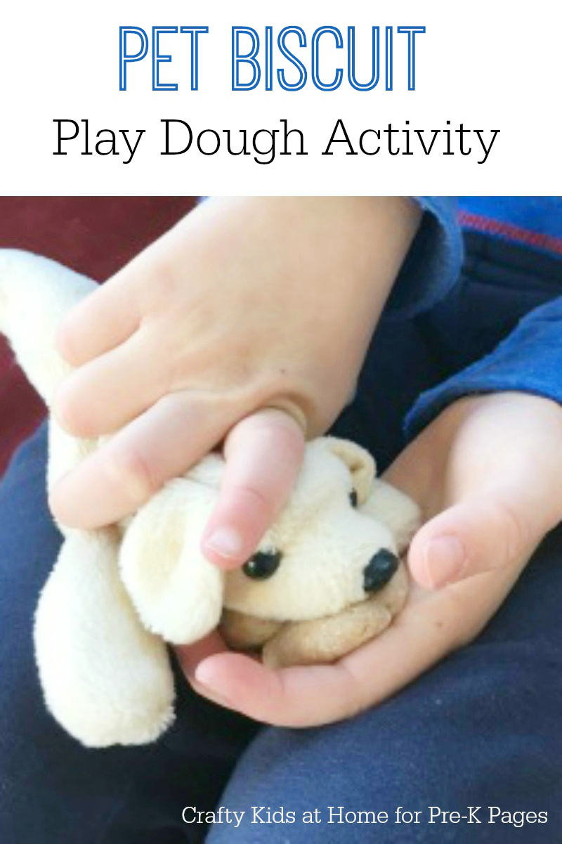 Pet Biscuit Play Dough activity for preschool