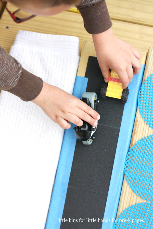 Ramps and friction kids physics activity