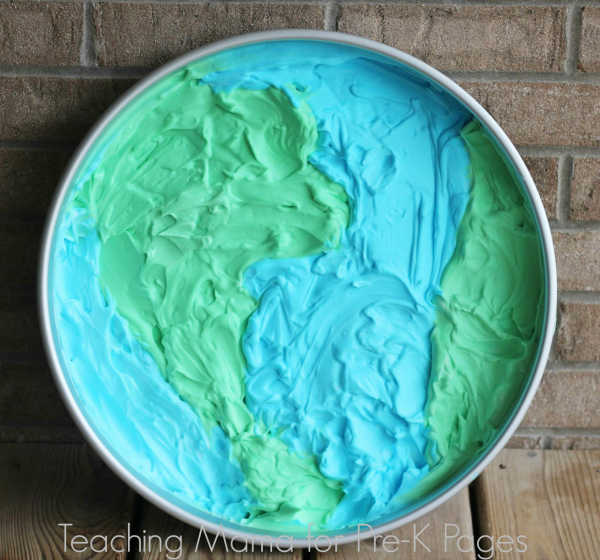 Shaving Cream Earth day tray