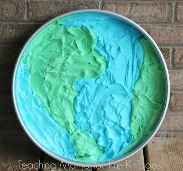 Shaving Cream Earth day tray