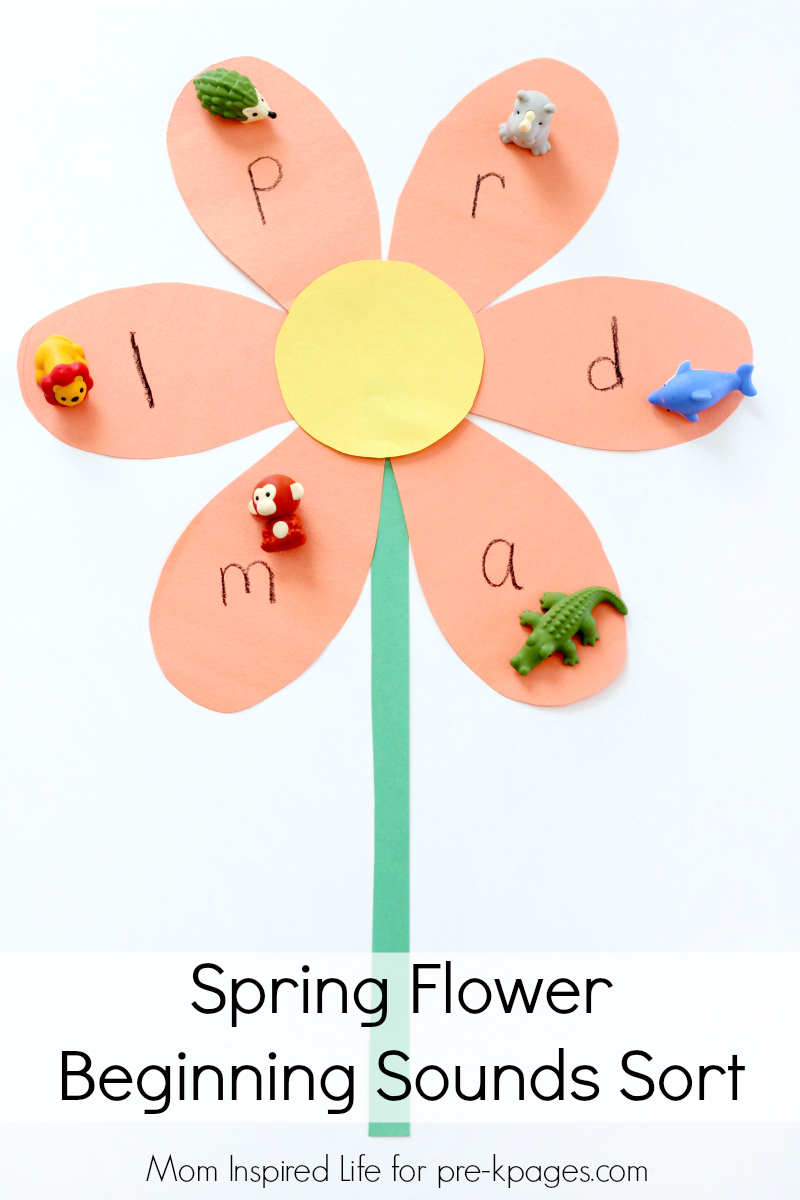 Spring Beginning Sounds Activity Pre K Pages