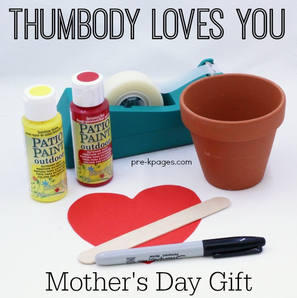 Thumbody Loves You Mothers Day Keepsake