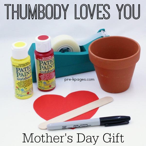 Thumbody Loves You Mothers Day Keepsake