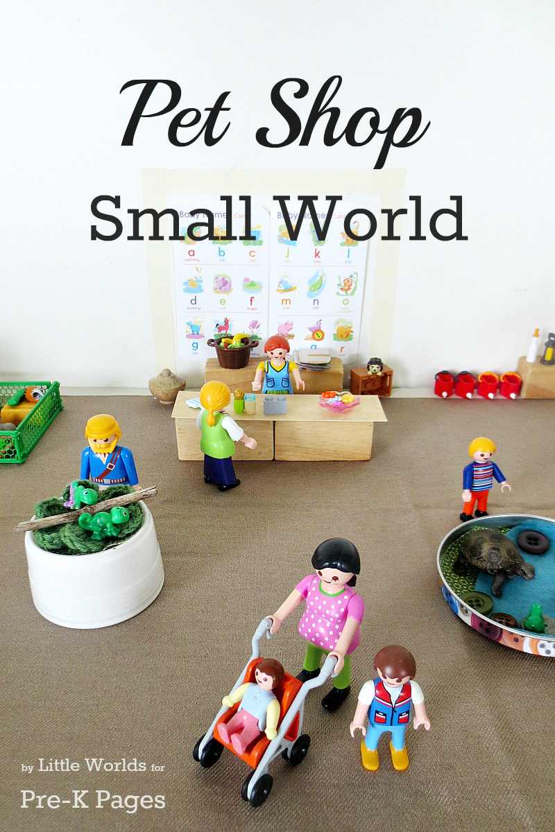 pets shop small world for preschool