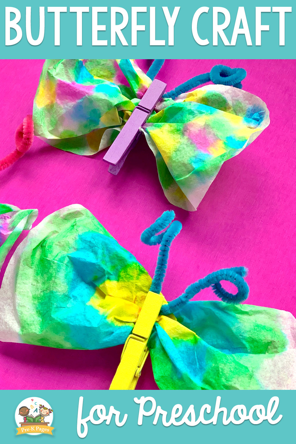 Easy Butterfly Craft for Preschoolers