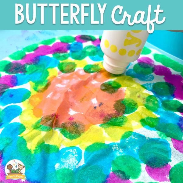 coffee filter butterfly for preschool