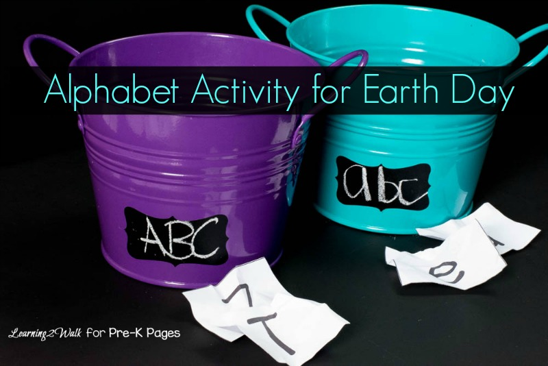Earth Day Alphabet Activity for Preschoolers