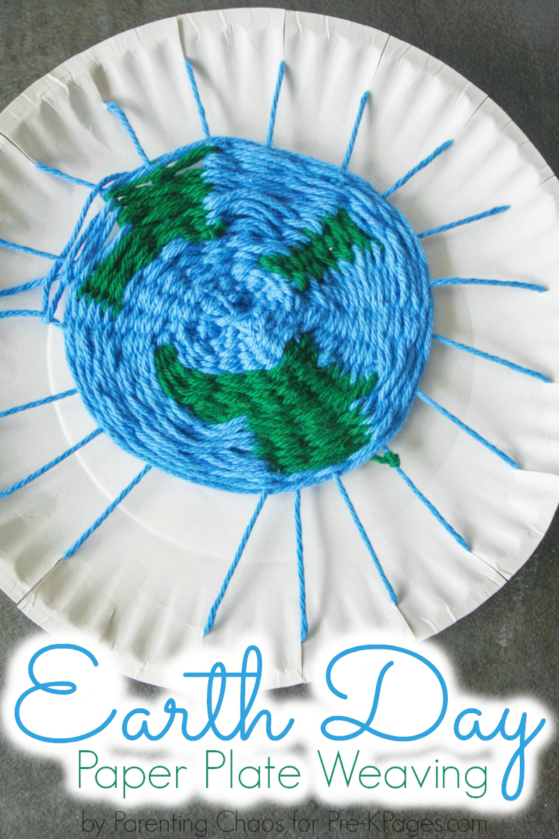Earth Day Paper Plate Weaving Craft Pre K Pages