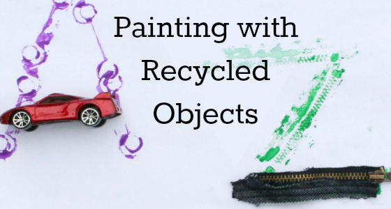 Painting with Recycled Objects (A to Z)