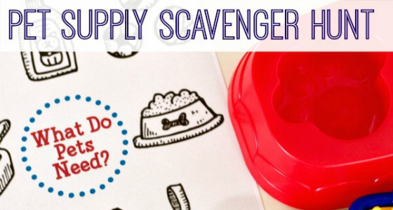 Pet Supply Scavenger Hunt