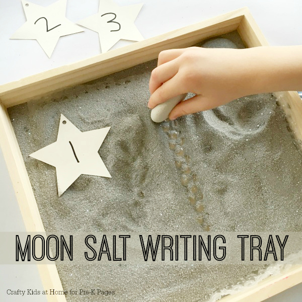 Bubble Wrap Moon Writing Tray