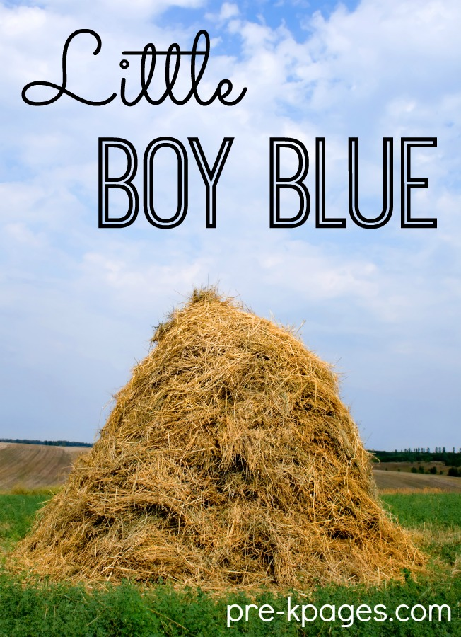 Little Boy Blue Nursery Rhyme Lesson Plans for Preschool