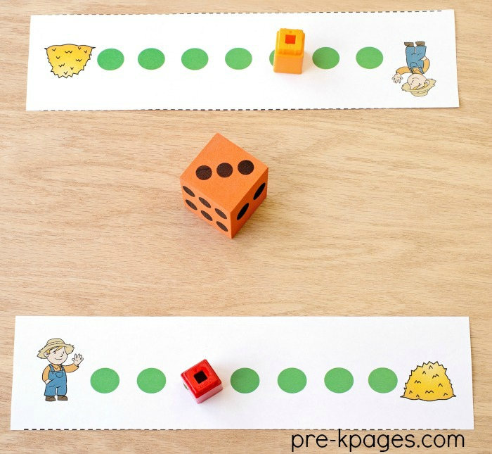 Little Boy Blue Printable Counting Path Game