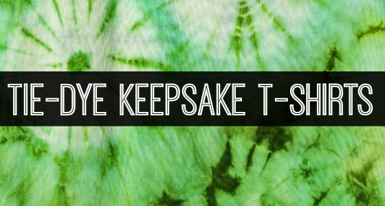 How to Make Keepsake Tie-Dye T-Shirts