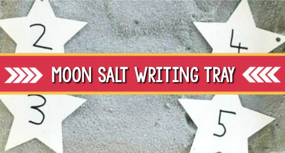 Moon Salt Writing Tray Activity