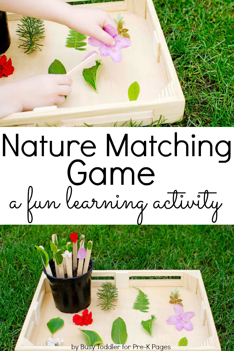 Nature Matching Game for preschool