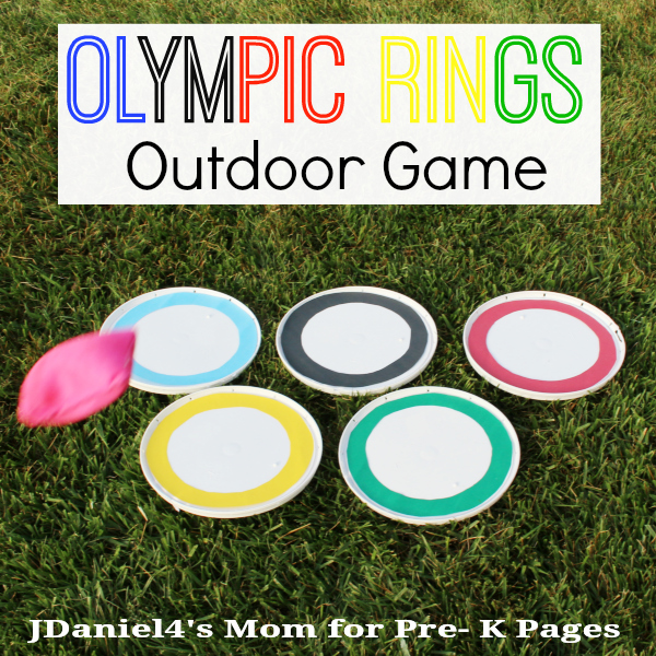 Olympic Rings Bean Bag Toss for preschool