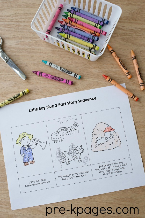 Printable Little Boy Blue Story Sequence