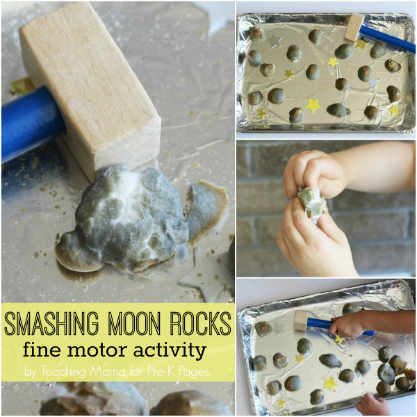 Smashing Moon Rocks space fine motor