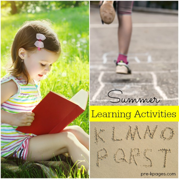 Summer Learning Activities for Preschool and Kindergarten Kids