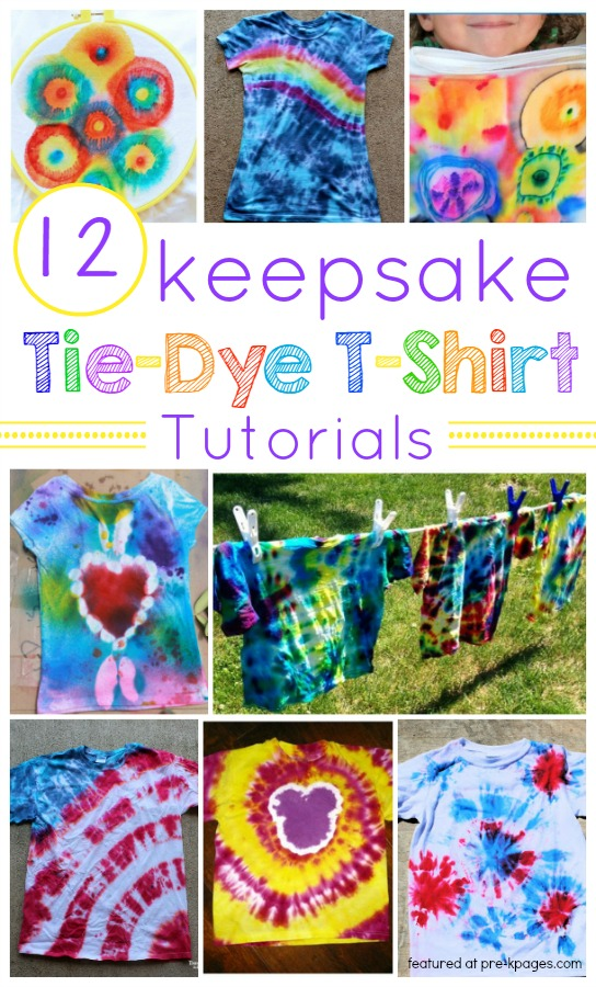 How To Make Keepsake Tie Dye T Shirts Pre K Pages