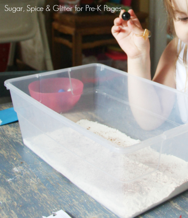 making craters dropping marbles in flour