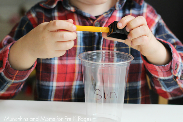sharpening crayons fine motor activity
