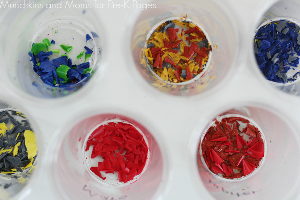 planet crayon shavings sun catcher