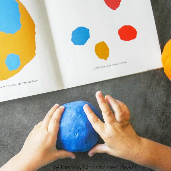 book and play dough activity color