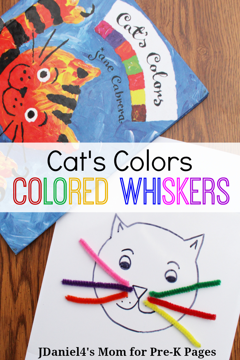 Cat's Colors activity for preschool