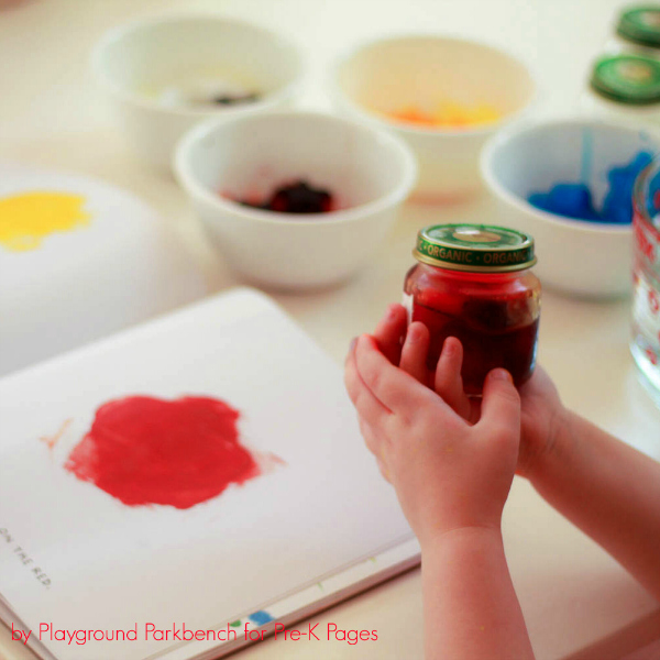 color mixing ice activity with red water