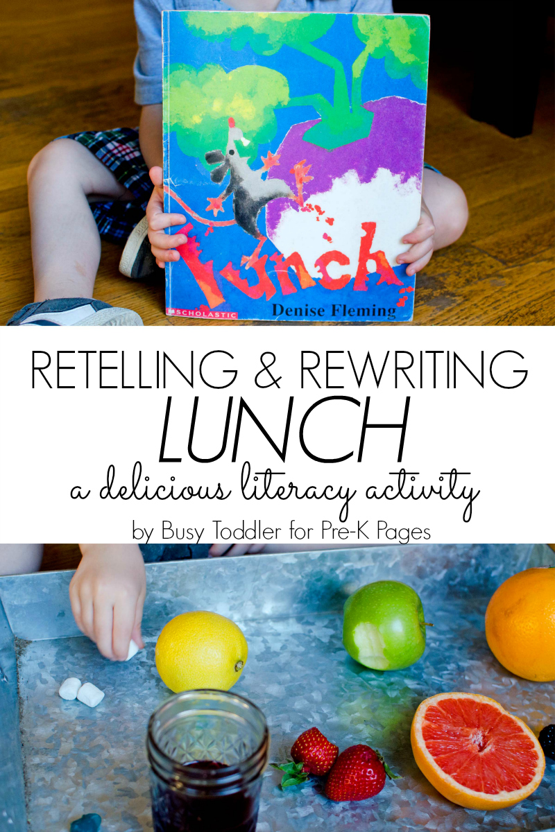retelling and rewriting a book for preschool