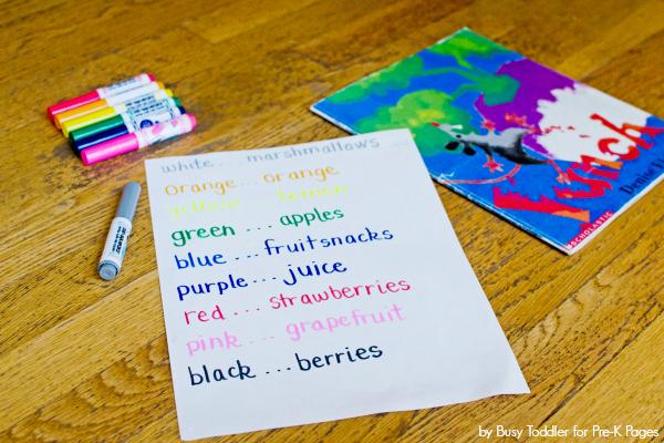 rewriting a story for preschool