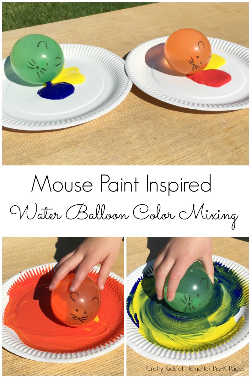 Mouse Paint color mixing for preschool