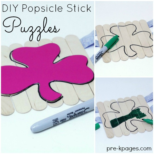 How to Make Popsicle Stick Puzzles for Preschool