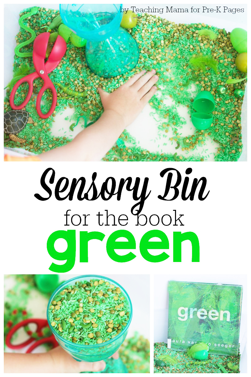 Sensory Bin for the Book Green