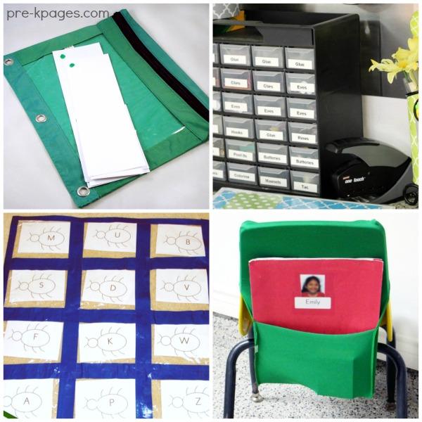 Storage and Organization Ideas for Preschool and Kindergarten Teachers