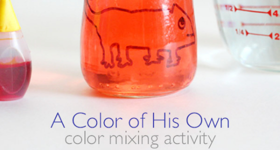 A Color of His Own: Color Mixing Activity