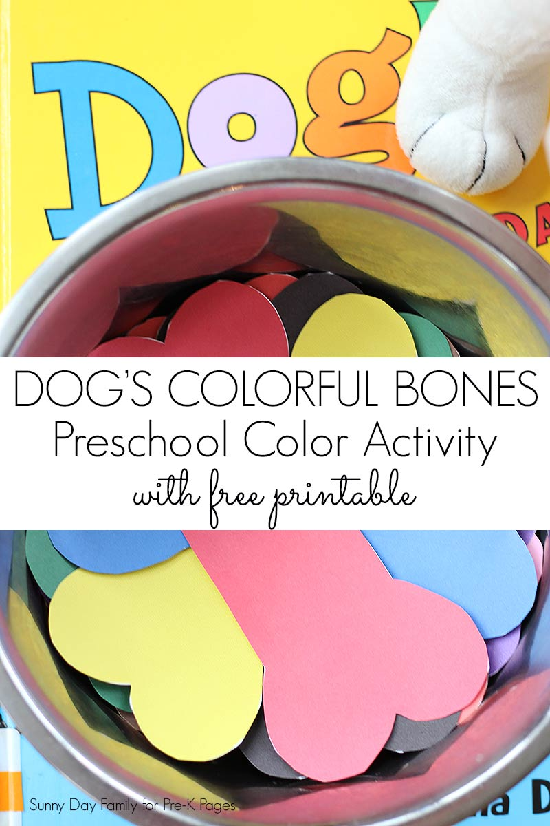 dog colorful day color matching for preschool