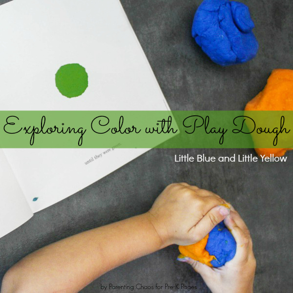 exploring color with play dough
