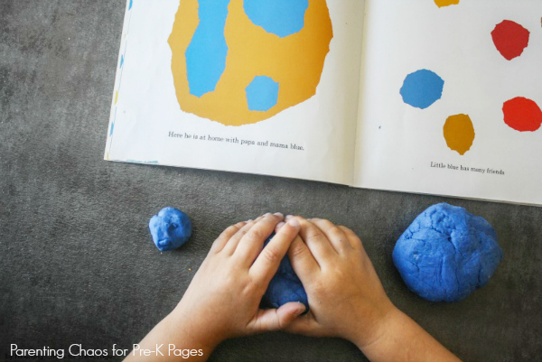 play dough size activity