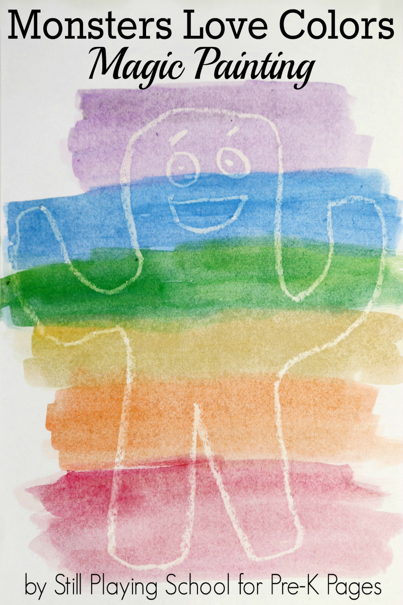 Monsters Love Colors: Watercolor Resist - Pre-K Pages