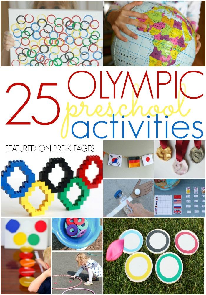 Olympic Theme Activities for Preschool and Kindergarten Kids