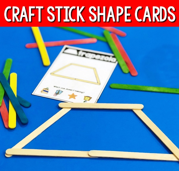 Craft Stick Shape Cards