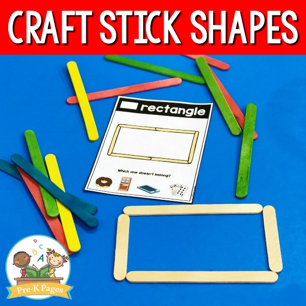 Popsicle Stick Shape Mats