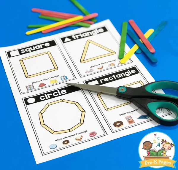 Popsicle Stick Shapes Cards